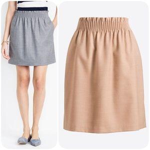 J.Crew Wool walkside skirt beige size 00